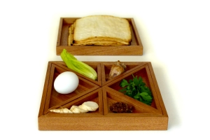 Tangram seder plate adds a sense of imagination and humor to the Seder table