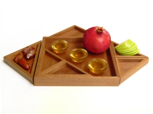 Apple and honey for a sweet year, a pomegranate, for a life full of blessings and good actions.