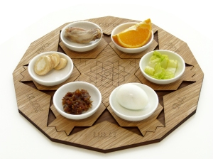 seder plate design made of wood