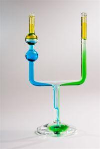 glass candlesticks - Shabbat candlesticks